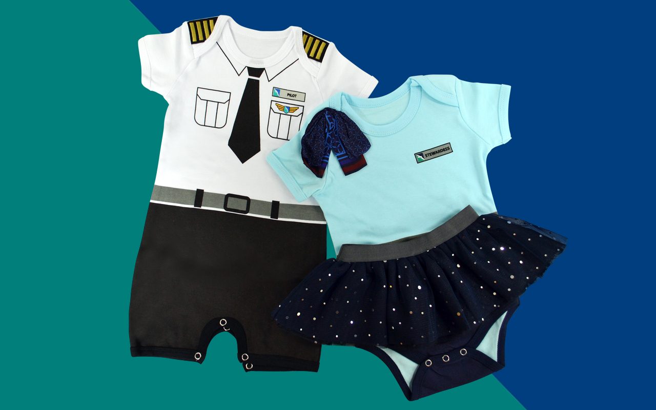 SilkAir Baby Romper Pilot & Air Stewardess