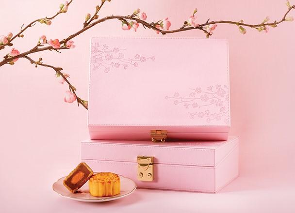 wooden mooncake packaging box, pink
