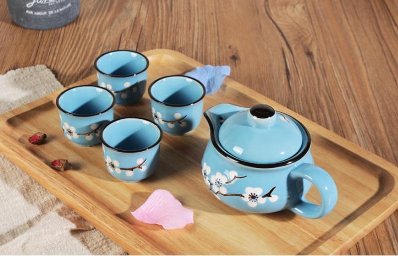 Mooncake porcelain teapot set