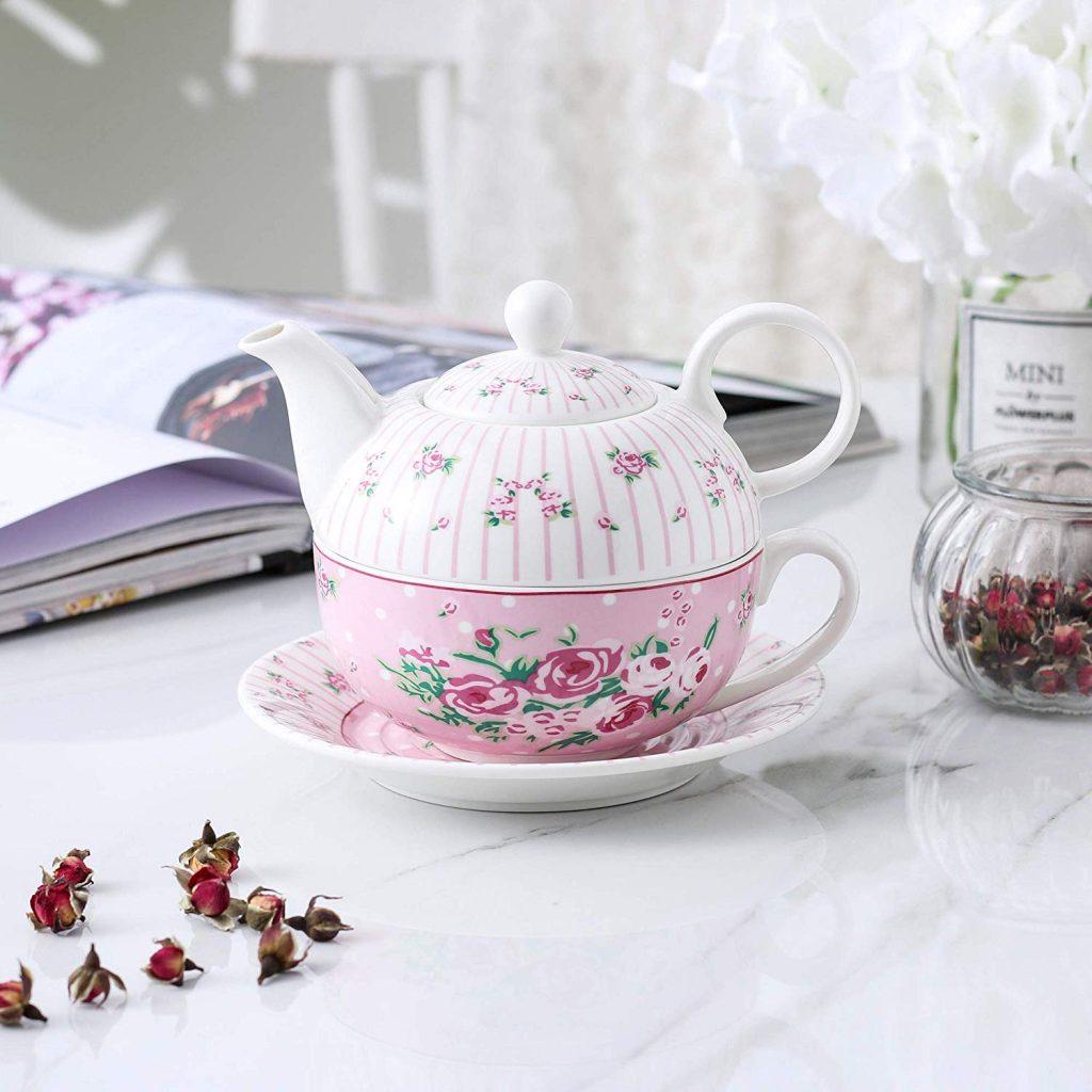 Procelain teapot, pink