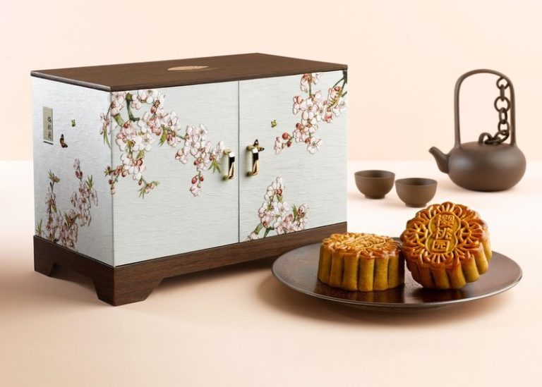 wooden mooncake packaging box